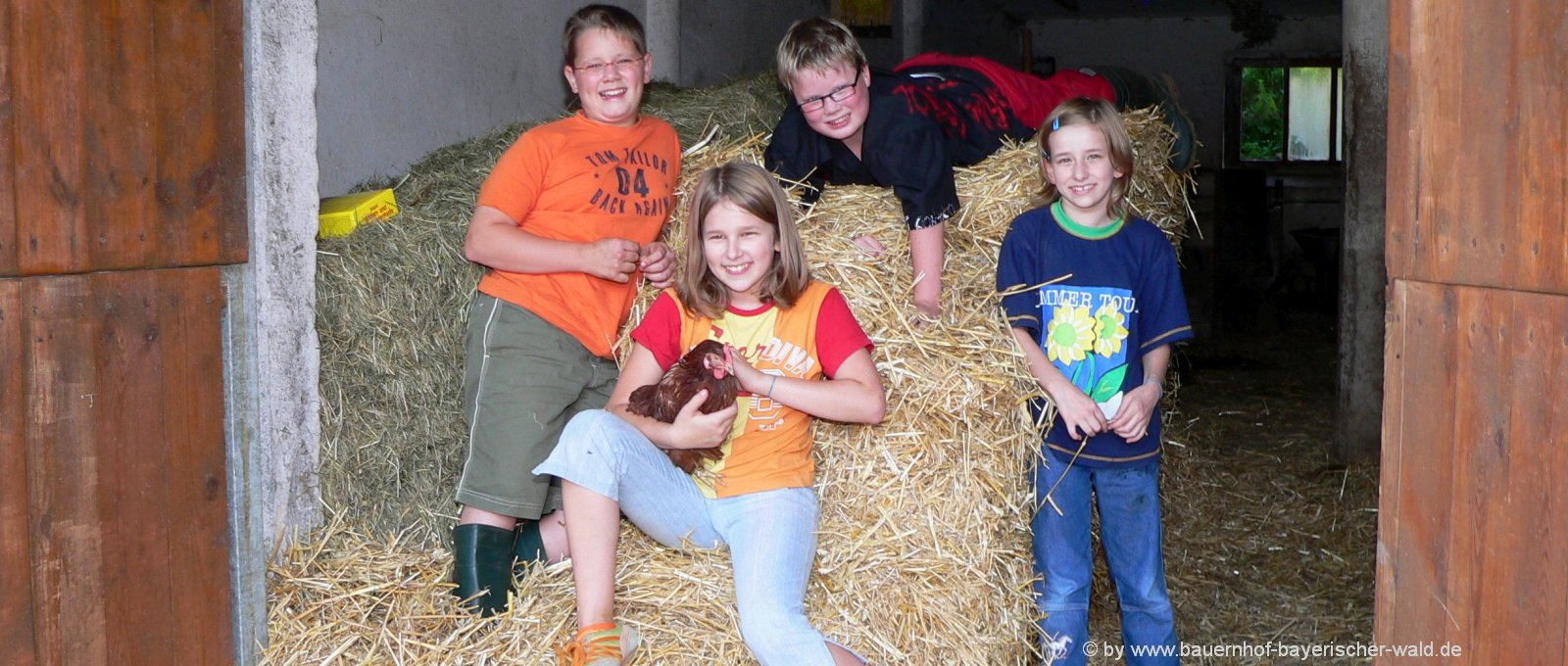 Bayerischer Wald Kurzurlaub mit Kindern am Bauernhof in Bayern