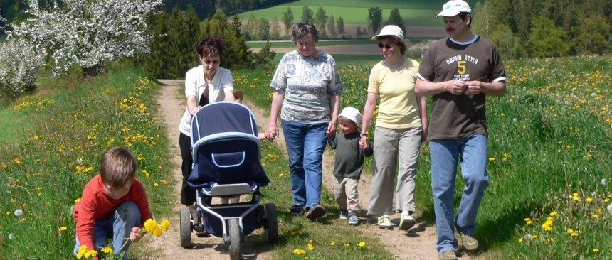 Familien mit Kinder Wanderung - Bayerischer Wald Unterkünfte für Bauernhof Reisen