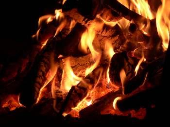 Lagerfeuer am Bauernhof