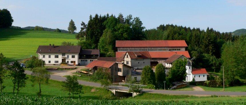 Deutschland Bauernhof für Kinder Hofansicht